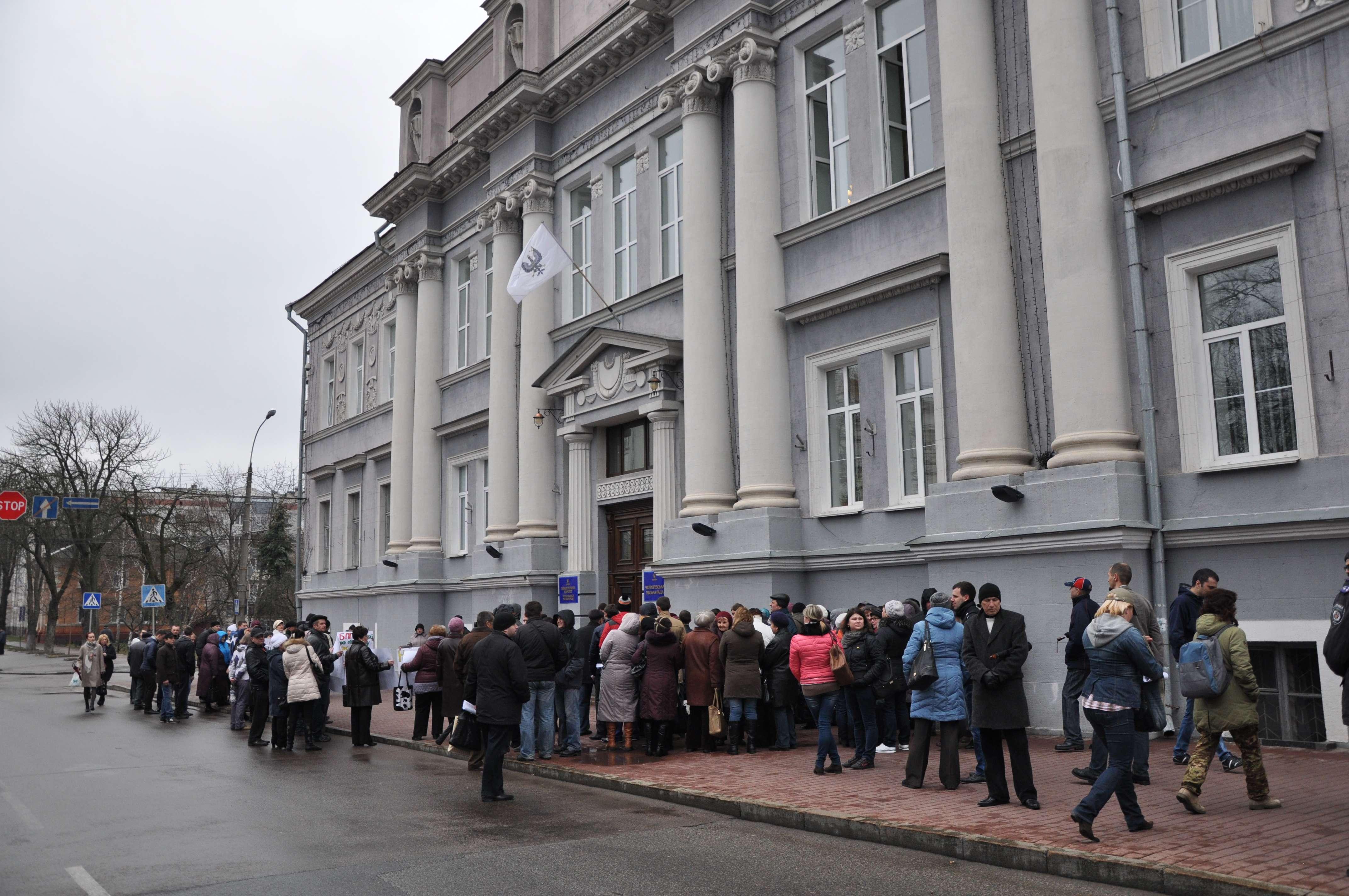 Дощ не завадив громаді зібратися на мітинг