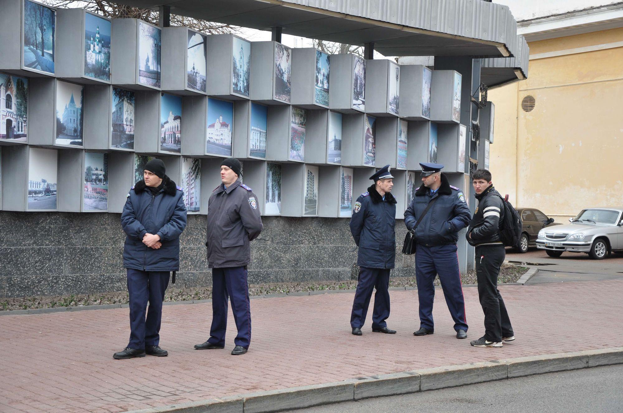 Навіть мирний мітинг під пильним оком правоохоронців