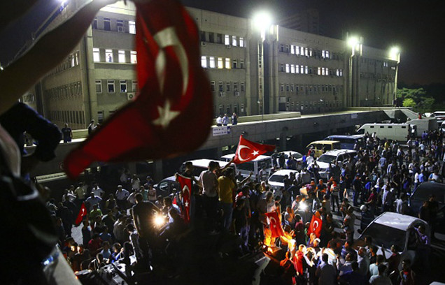 Turkey stand against military coup attempt