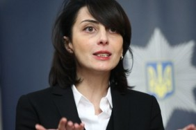 Khatia Dekanoidze, the head of the National Police of Ukraine,