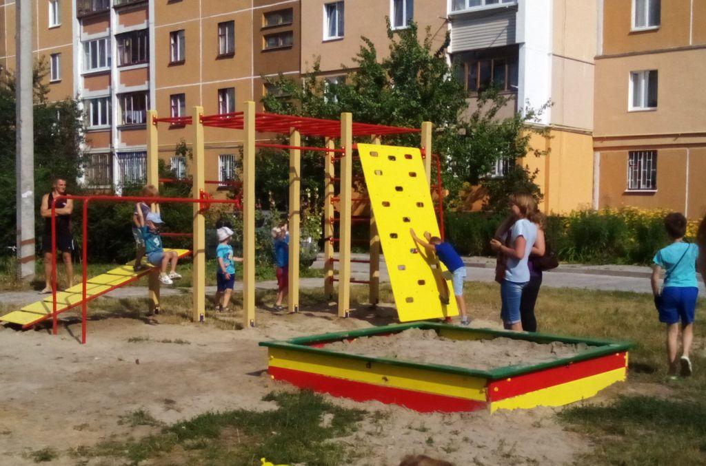 За бюджетні кошти на Масанах встановили дитячий майданчик (Фото)