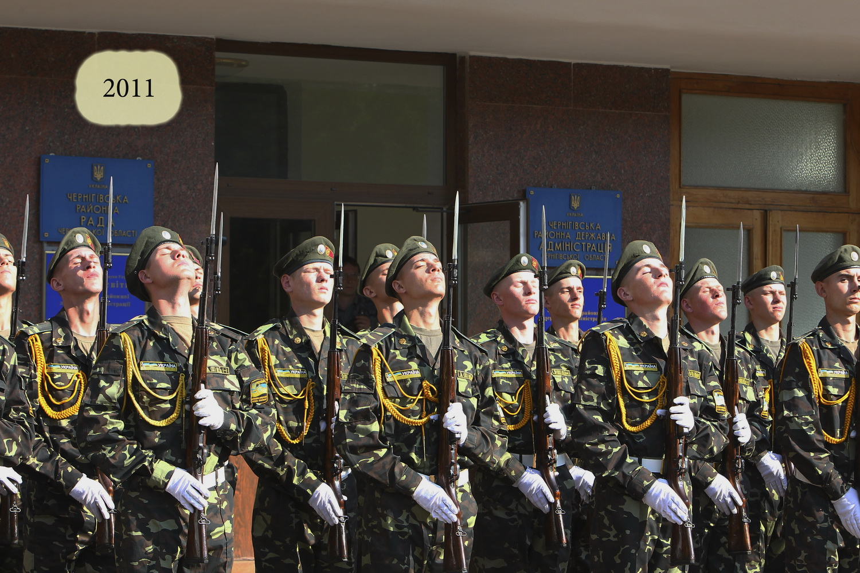 Історичні фото з підняття прапора України на Чернігівщині