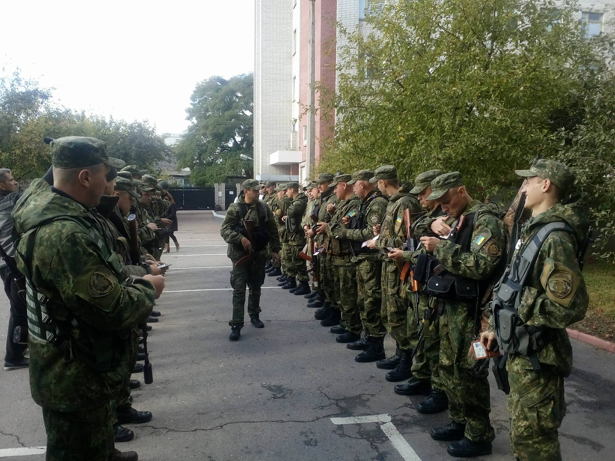 """Рота """"Чернігів"""" вирушила в АТО (Фото)"""