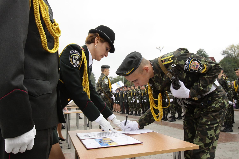 Курсанти Академії пенітенціарної служби склали присягу на Пагорбі Слави (Фото)