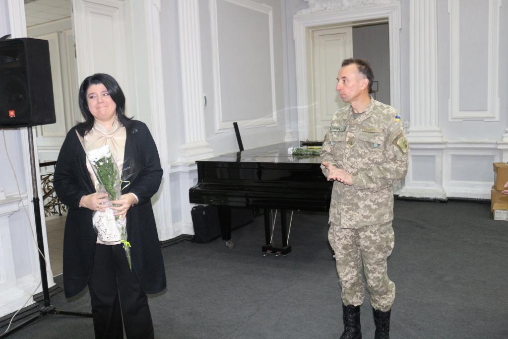 Військові музики Чернігова отримали гуманітарну допомогу з Німеччини (Фото)