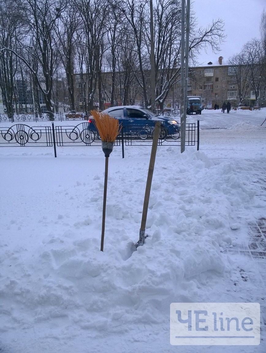 Ранкова зарядка, або На роботу з лопатою (Фото)