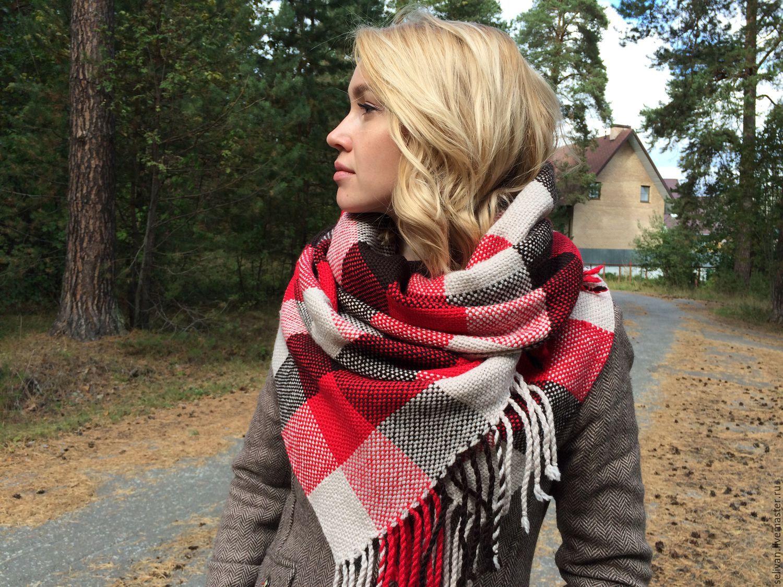 Платок-шарф вязание видео