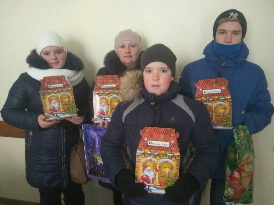 Різдво для дітей обваленого гуртожитку (Фото)