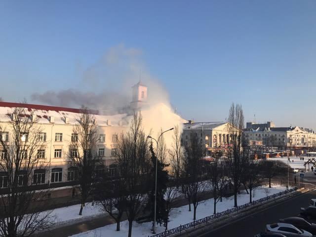 Заїжджі люстратори кинули димову шашку(Фото)
