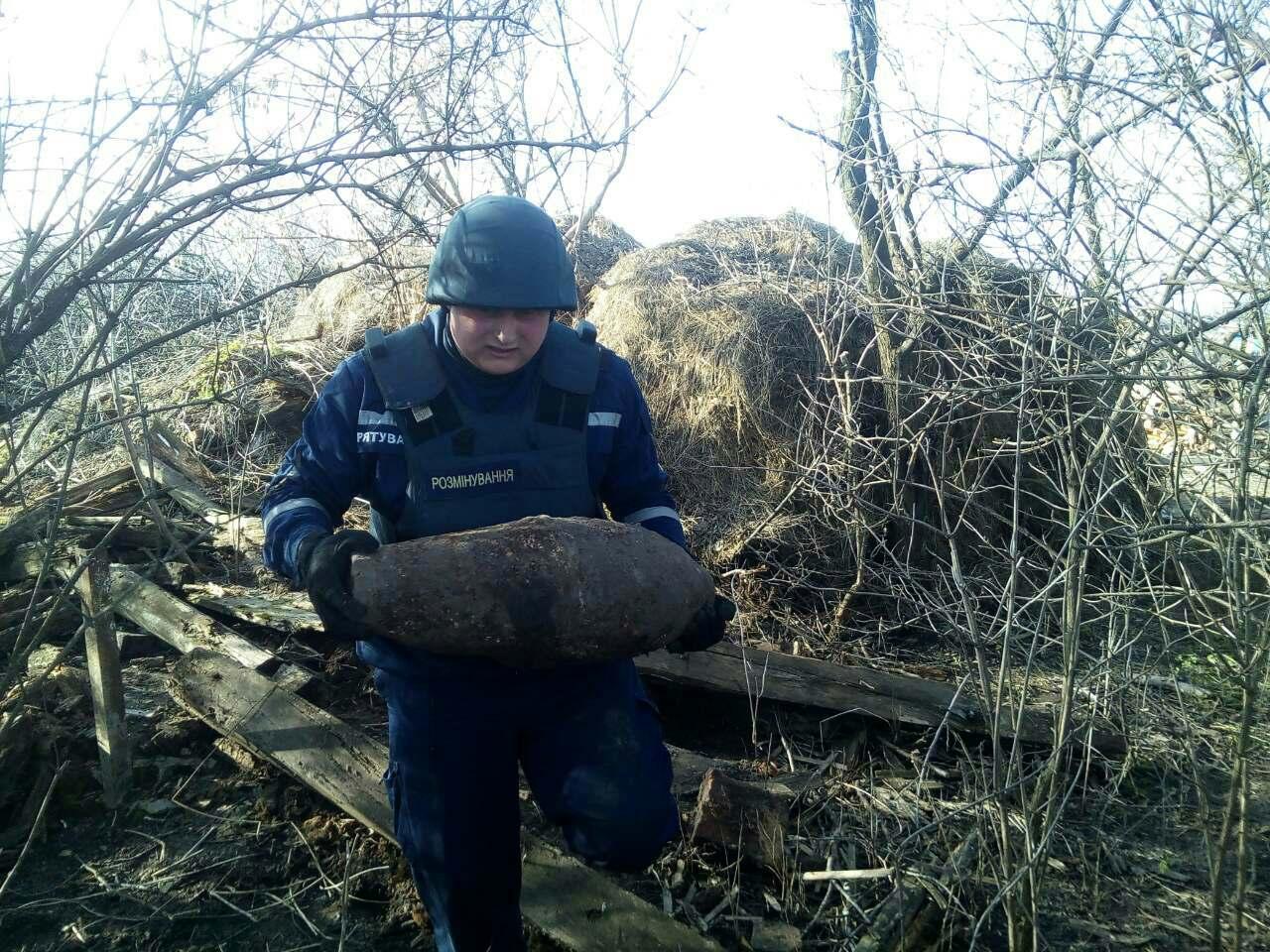 У Вертіївці знайшли авіаційні бомби (Фото)