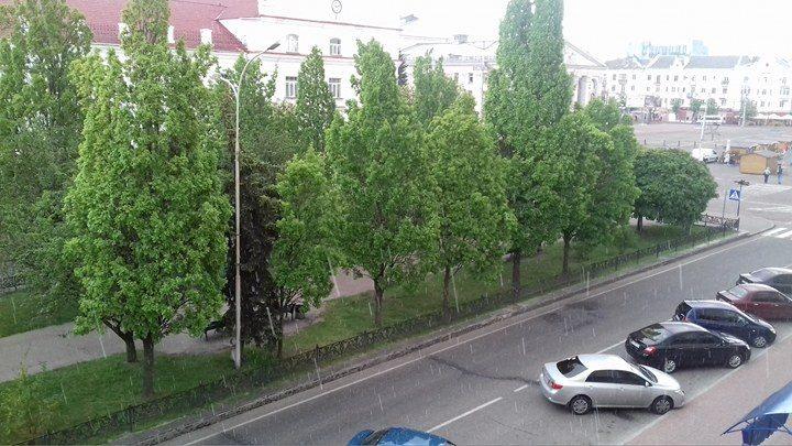 Травневі сюрпризи: у Чернігові – град (Фото)