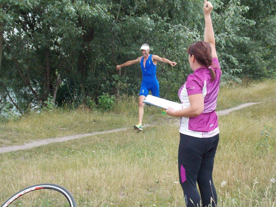 На Земснаряді любителі змагалися з триатлону (Фото)