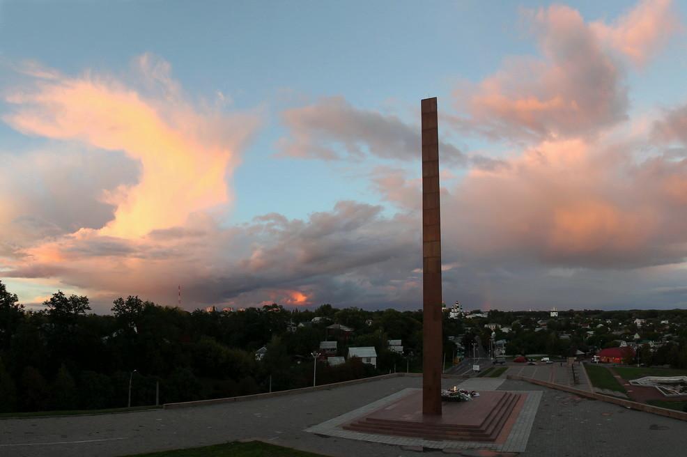 Панорама Лісковиці на закаті - 23.09.13.- 1