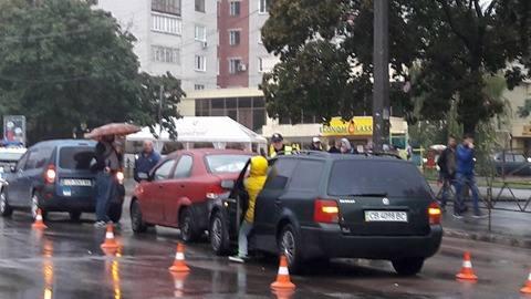 Потрійна ДТП на Рокосовського (Фото)