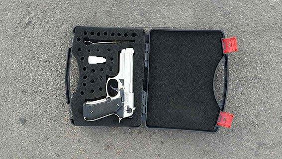 Винахідливий прилучанин переробив стартовий пістолет на бойовий (Фото)