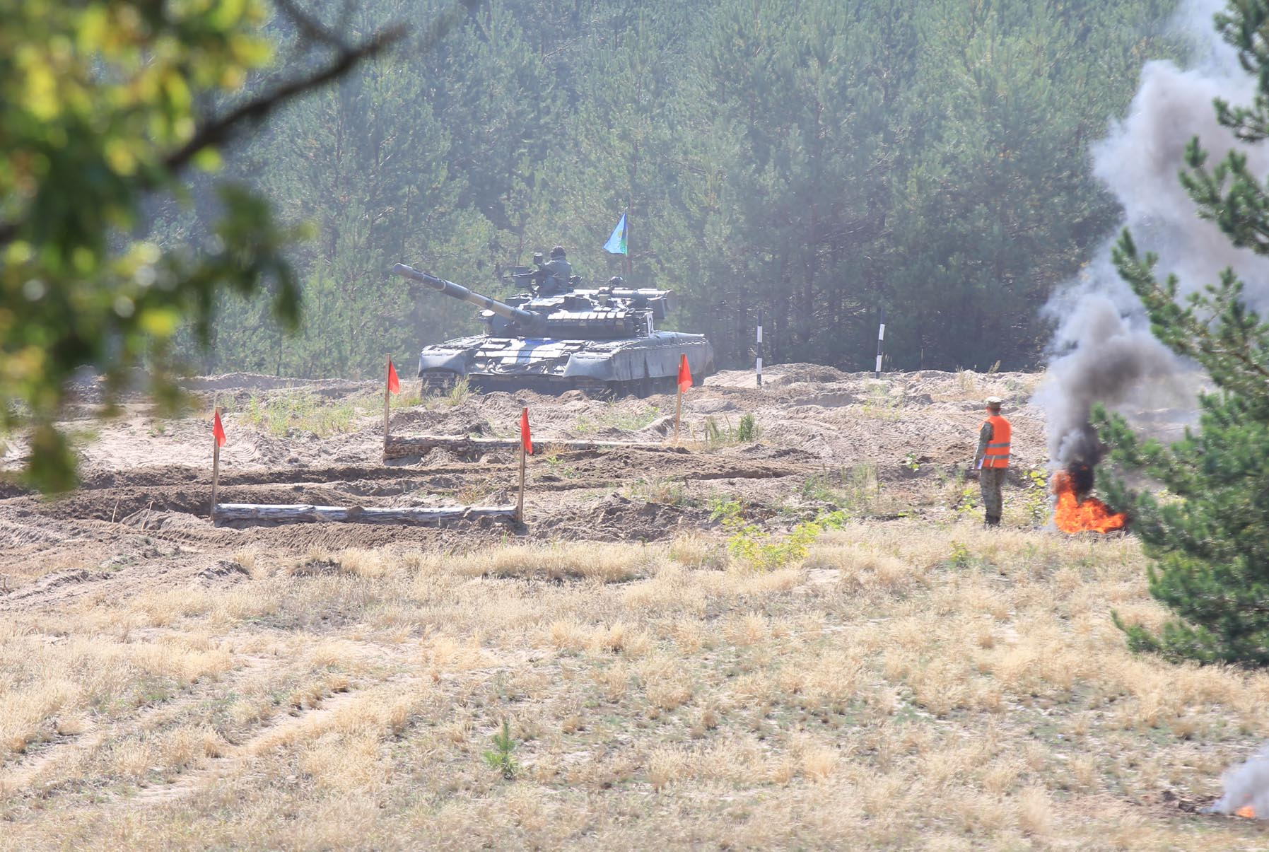 На полігоні навчалися танкові підрозділи (Фото)