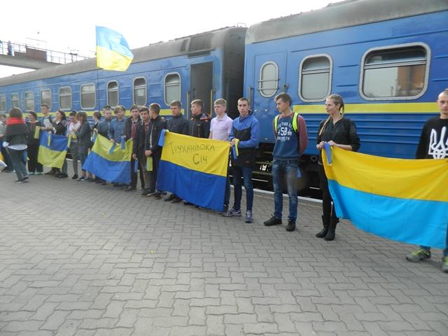 Всеукраїнський 9-й потяг Єднання знову на Чернігівщині (Фото)