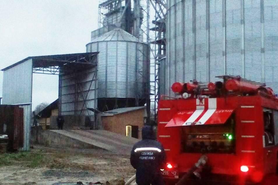 Горіла зерносушильна установка (Фото)
