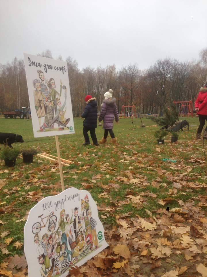 Березовий гай засадили деревами та кущами (Фото)