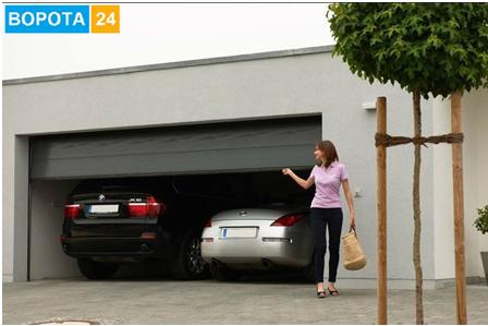 skladnyye vorota v garazh