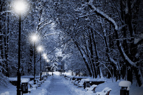 snow-night-with-lamp-poster-street-in-winter-view-canvas-Painting-led-canvas-print-stretched-Picture[1]
