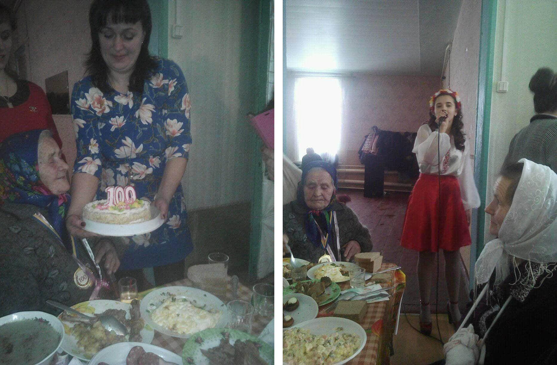 Пишно та гамірно бабуся зі Стольного відсвяткувала 100-річний ювілей (Фото)
