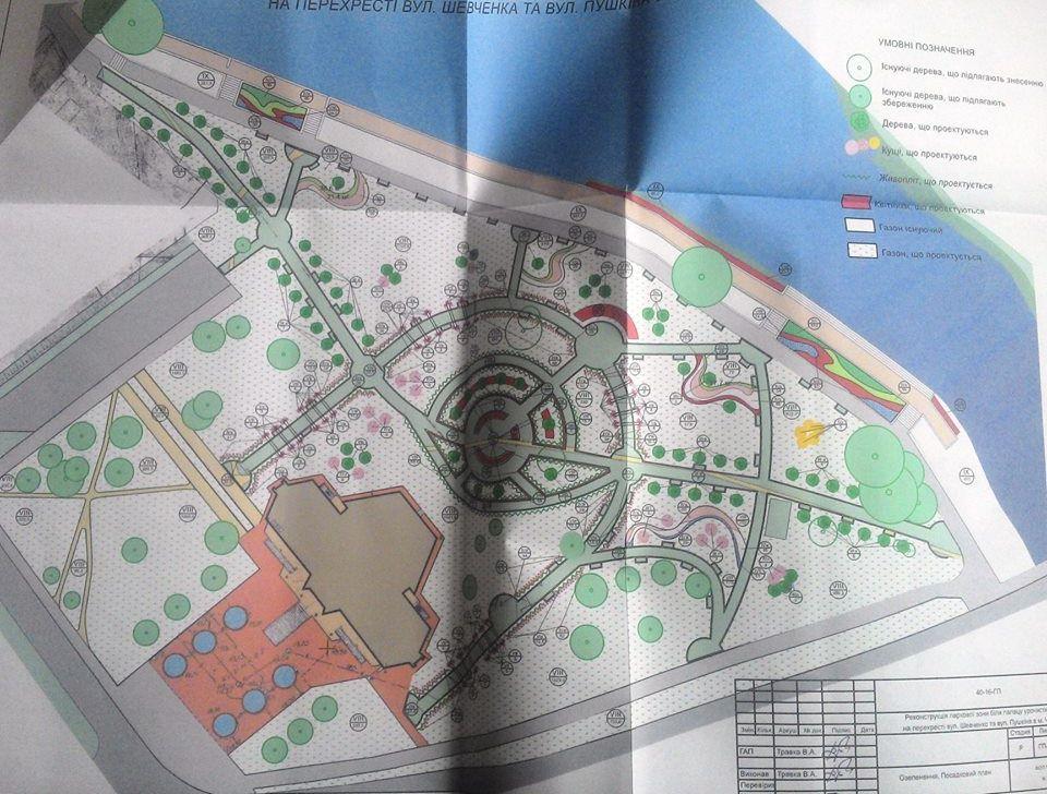 Біля РАЦСу запланована масштабна реконструкція (Фото)