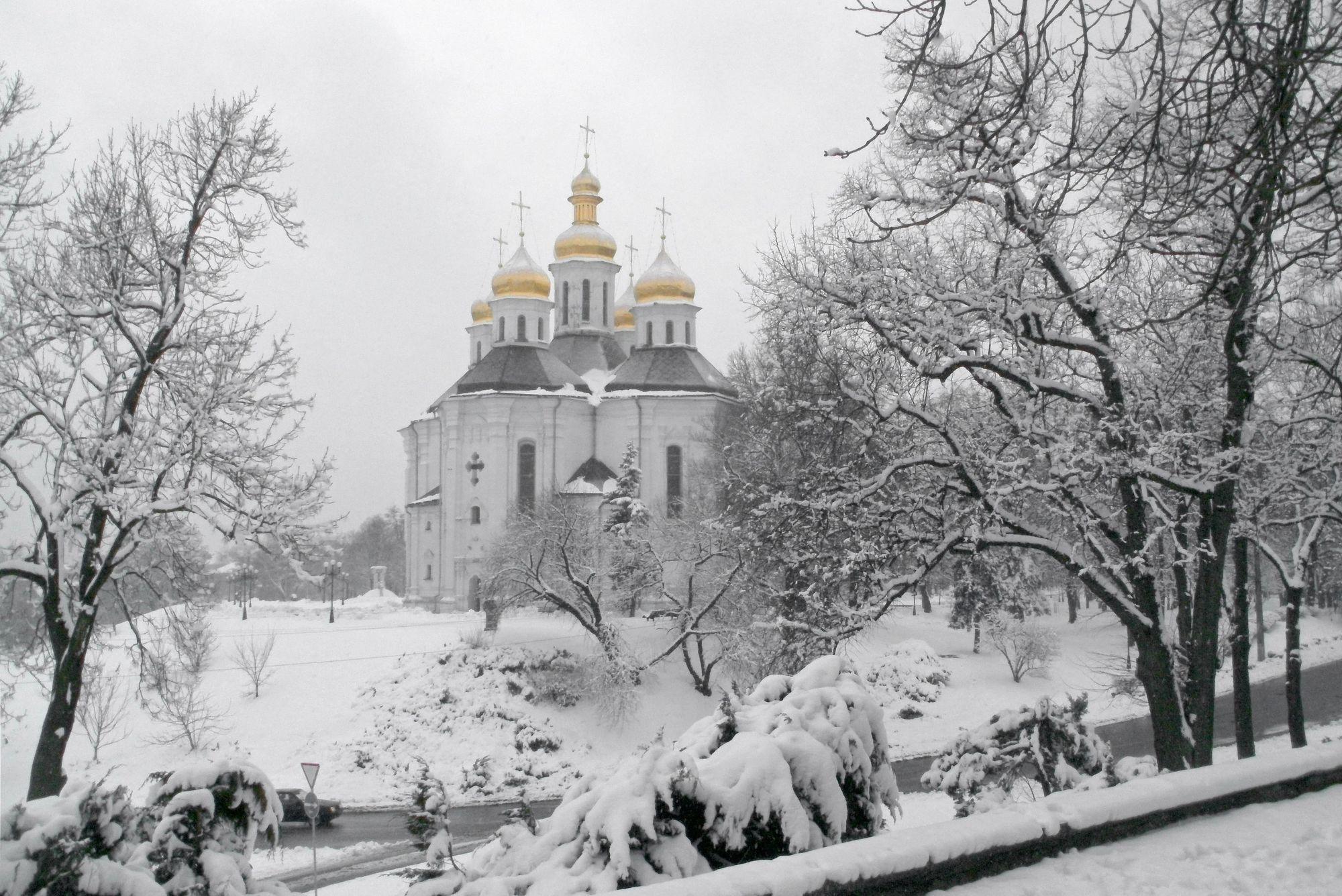Чернигов._Екатерининская_церковь.Зима