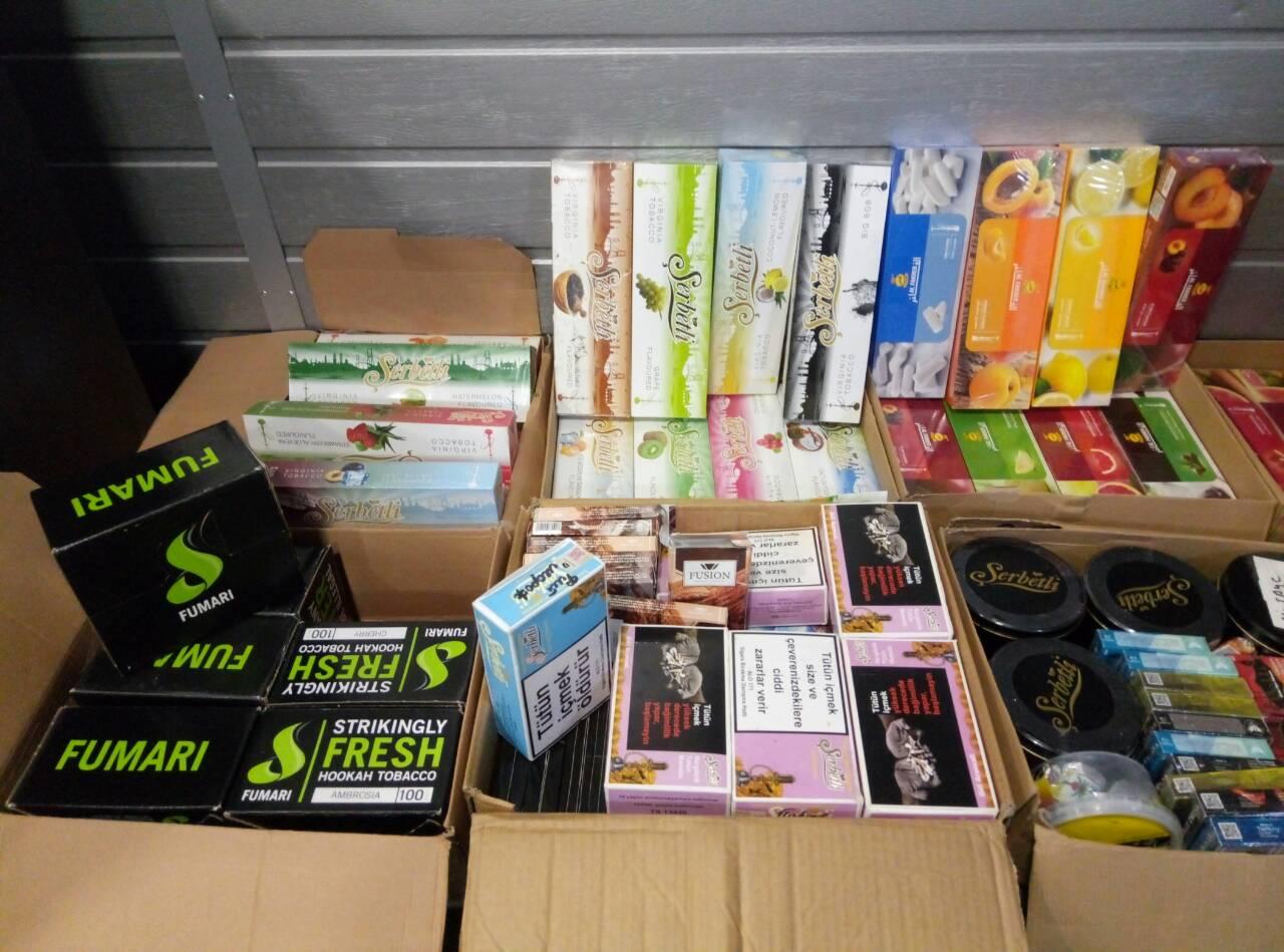 Податківці вилучили тютюн  для кальянів вартістю понад 500 тисяч гривень (Фото)