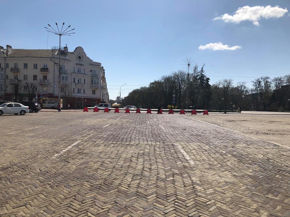 У Чернігові перекрили Красну площу (Фотофакт)