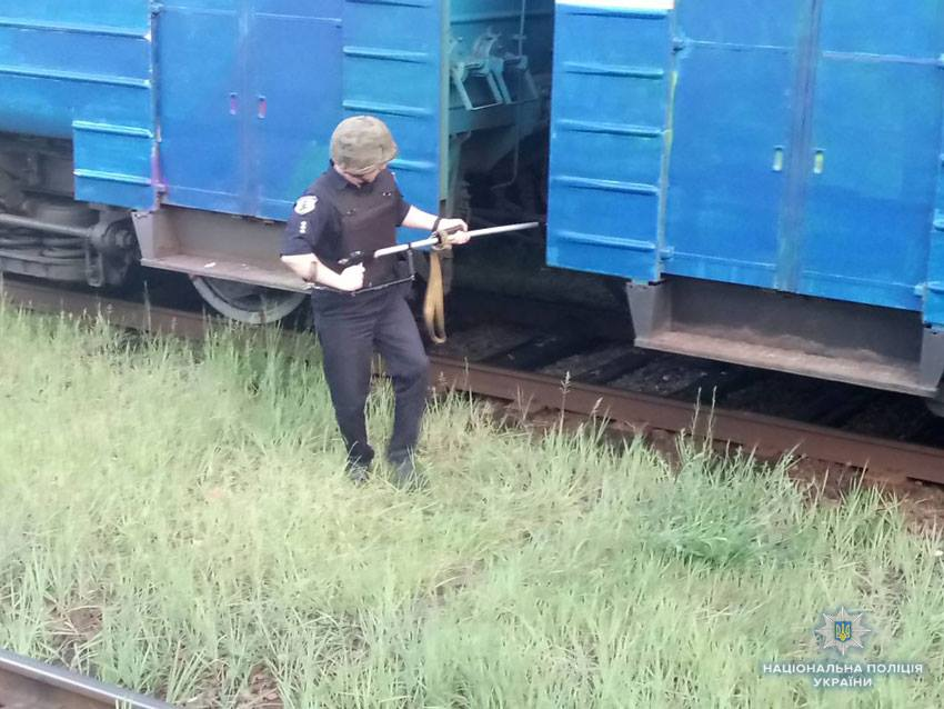 Чернігівські вибухотехніки знешкодили підозрілий рюкзак з електропоїзда (Фото)