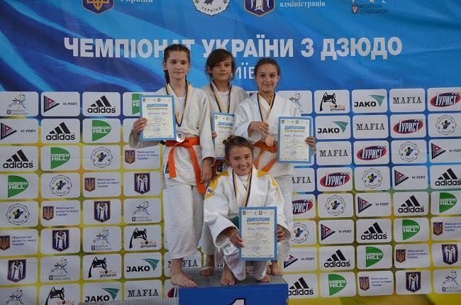 Юні дзюдоїсти зайняли призові місця на чемпіонаті України