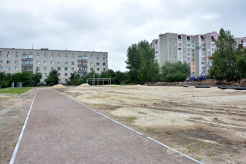 Чернігівська школа №35 матиме два сучасних спортивних майданчики (Фото)