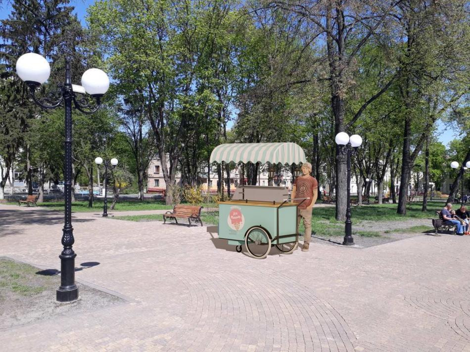 У Чернігові визначили єдиний формат для тимчасових місць із продажу вуличної їжі та кави