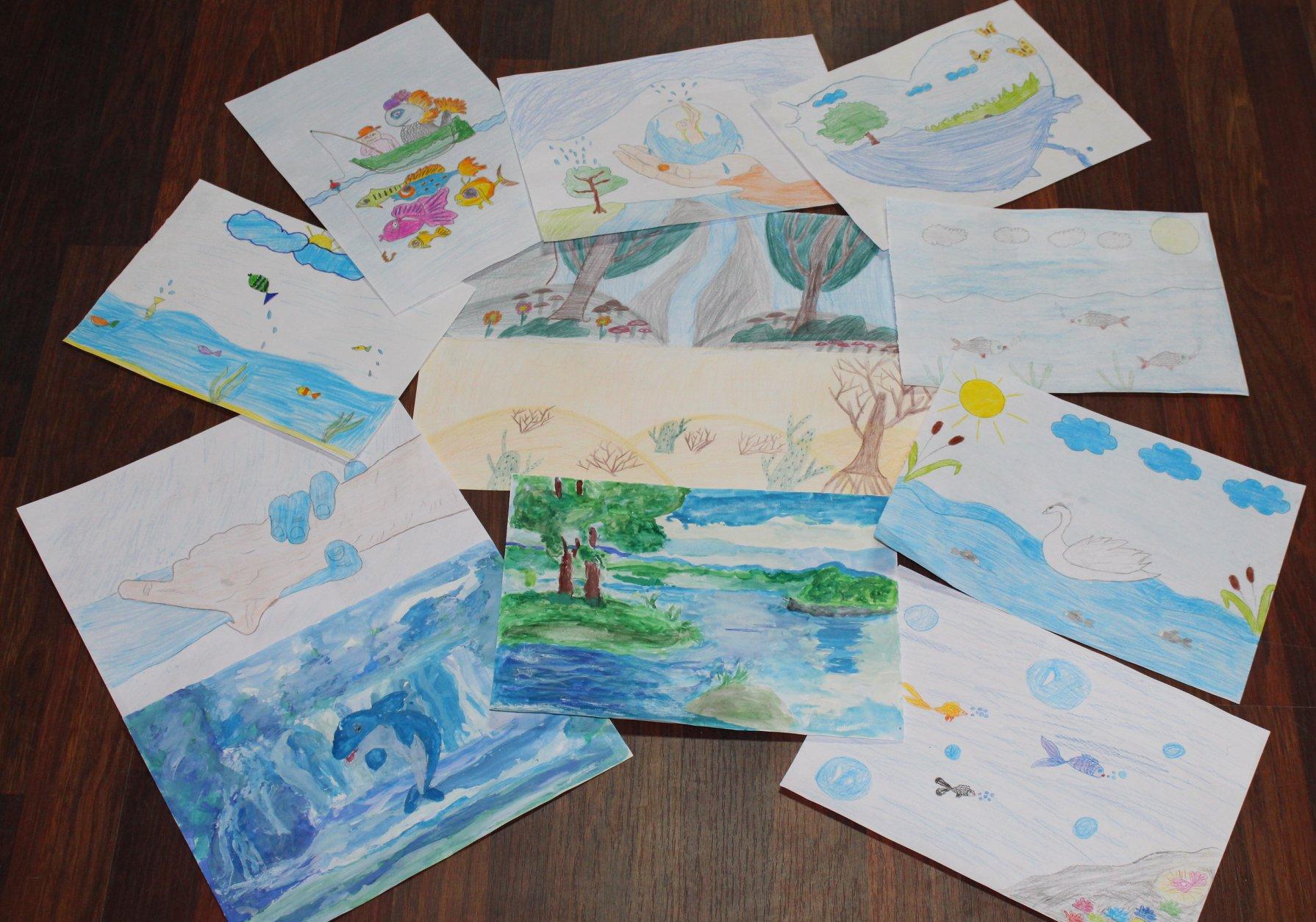 Конкурс до Дня води: в управлінні чекають на дитячі малюнки