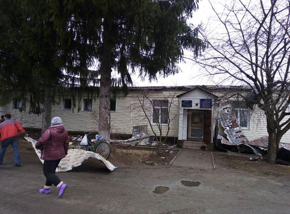 У Новгород-Сіверському згоріла будівля будівлі Держпродспоживслужби (Фото)