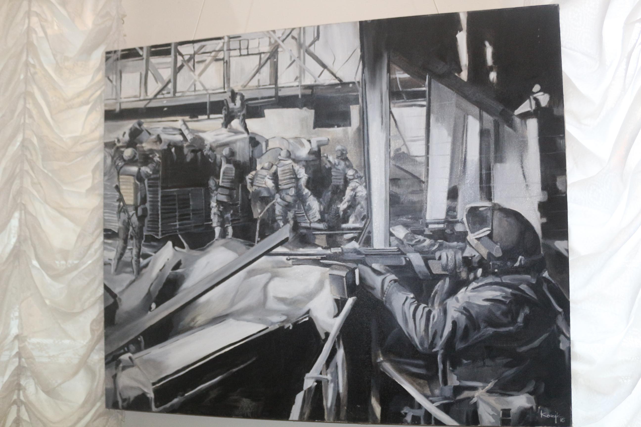 У Чернігові про мужність і героїзм «кіборгів» розповідає виставка картин (Фото)