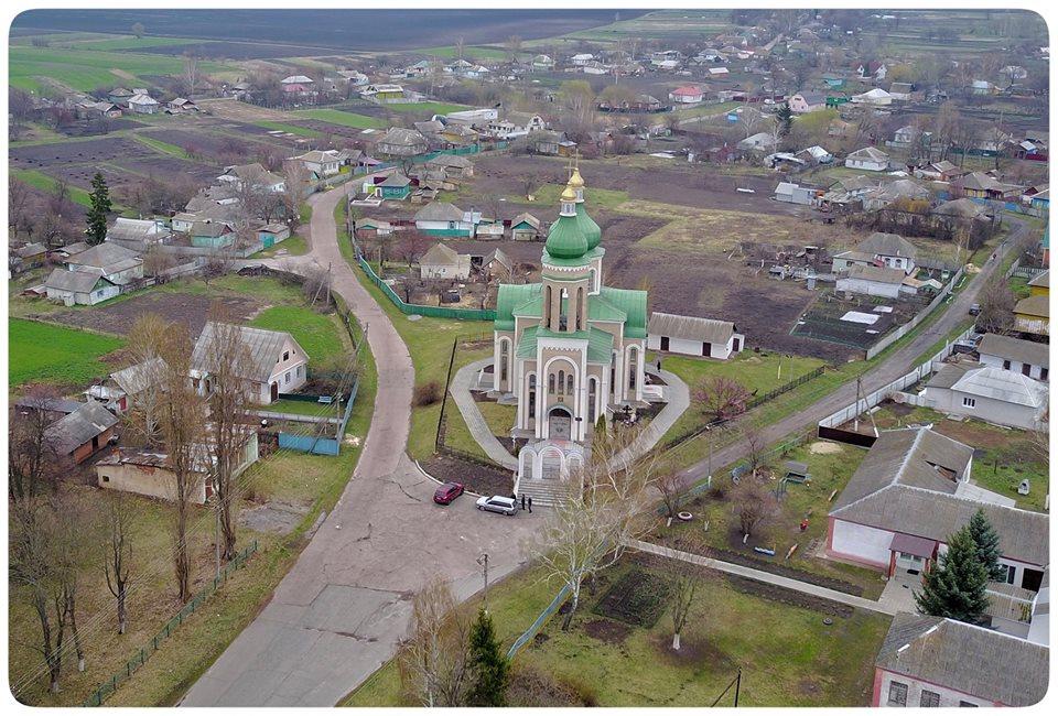 Глибинка Чернігівщини з висоти пташиного польоту (Фото)