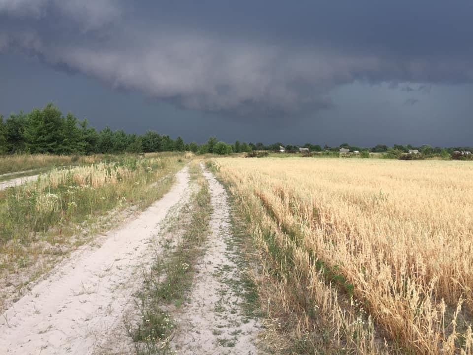 Неймовірне небо Ніжинщини перед дощем (Фото)