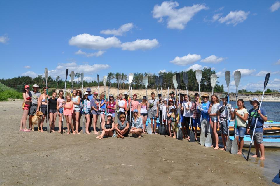 Ніжинські школярі сплавлялися на байдарках Сеймом і Десною (Фото)