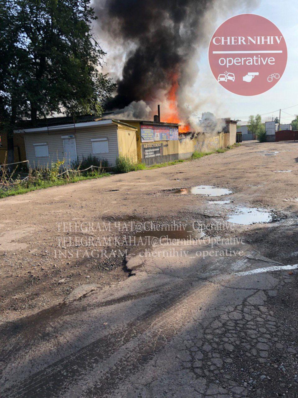 Пожежа на проспекті Миру (Фотофакт)
