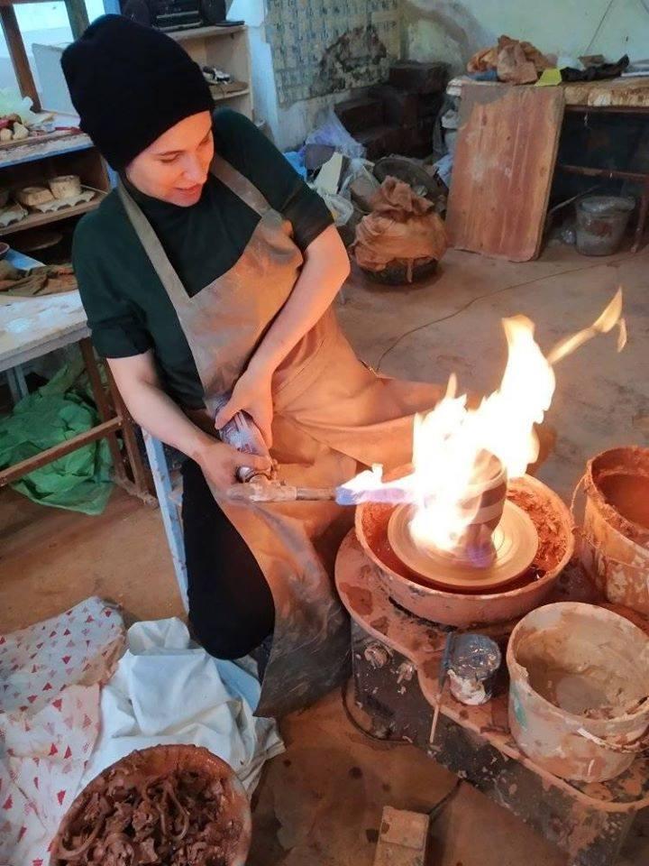 На Чернігівщині навчають гончарській справі іноземні «делегації» (Фото)