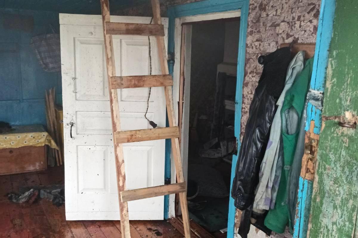 На Чернігівщині під час ліквідації пожежі житлового будинку врятовано дві людини (Фото)