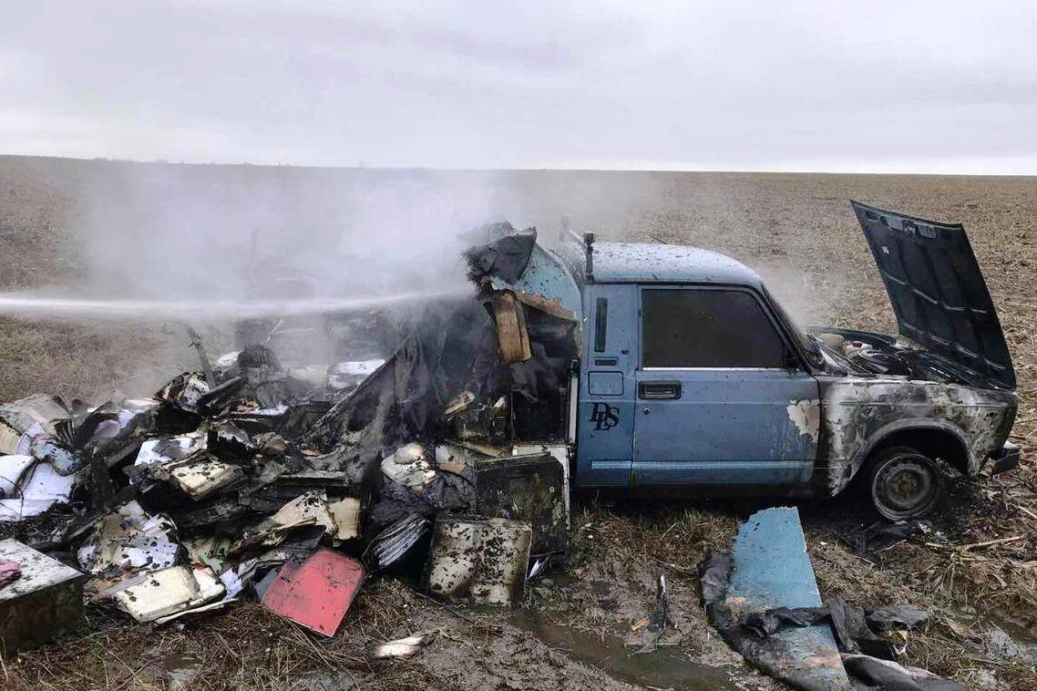 Поблизу Нового Білоуса загорівся автомобіль (Фото)