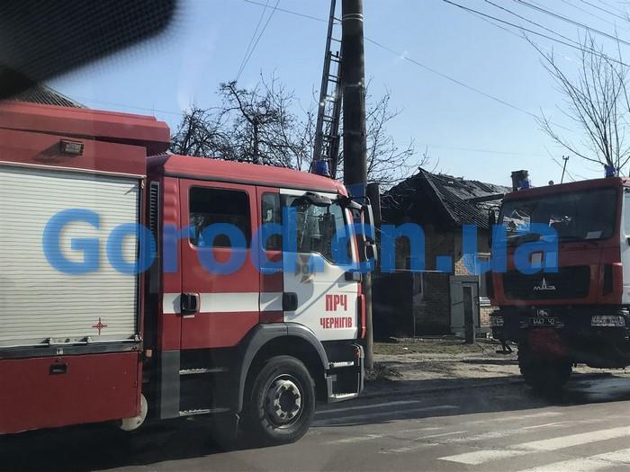 Згорів будинок по вулиці Любецькій (Фото)
