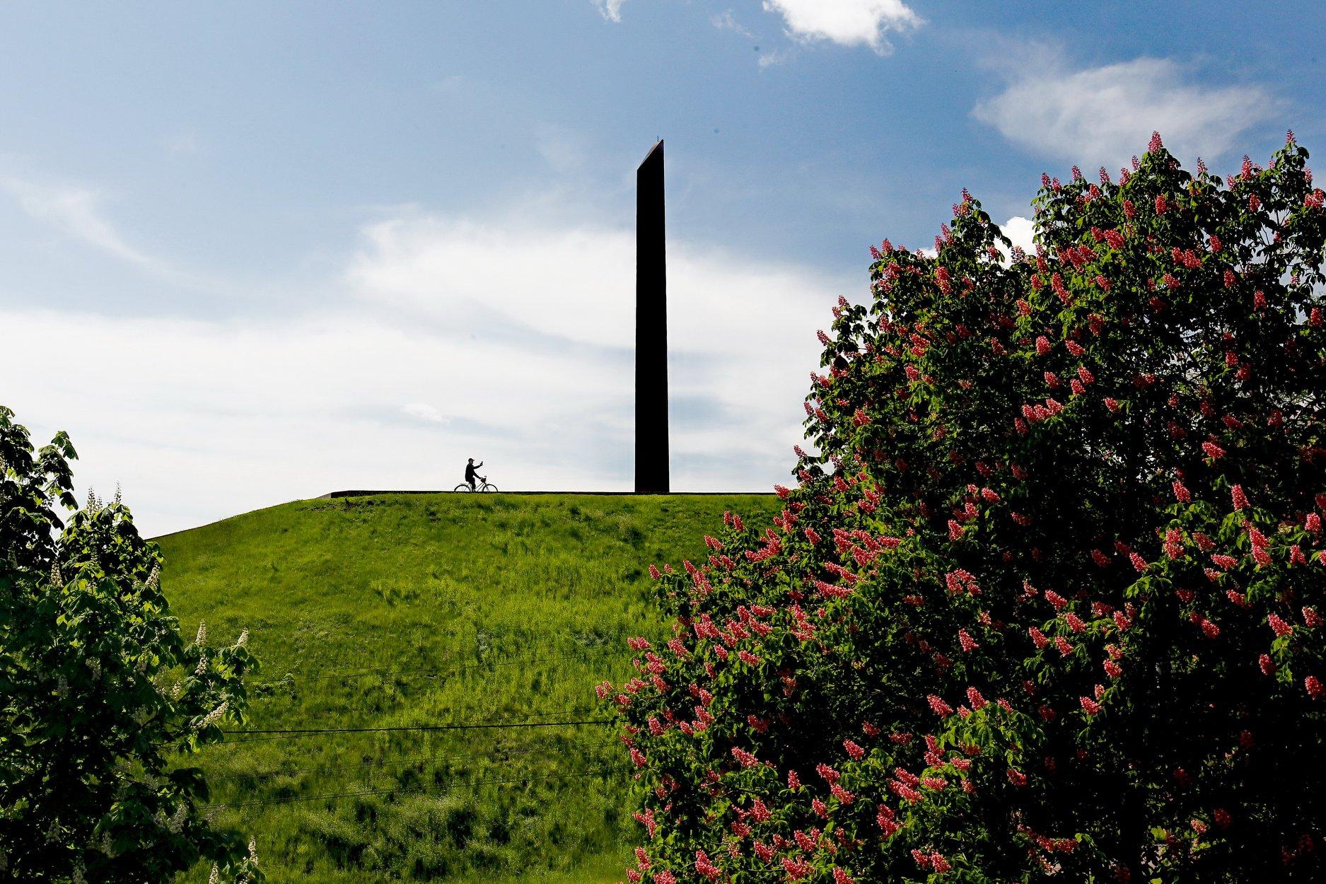 У Чернігові квітнуть червоні каштани (Фото)