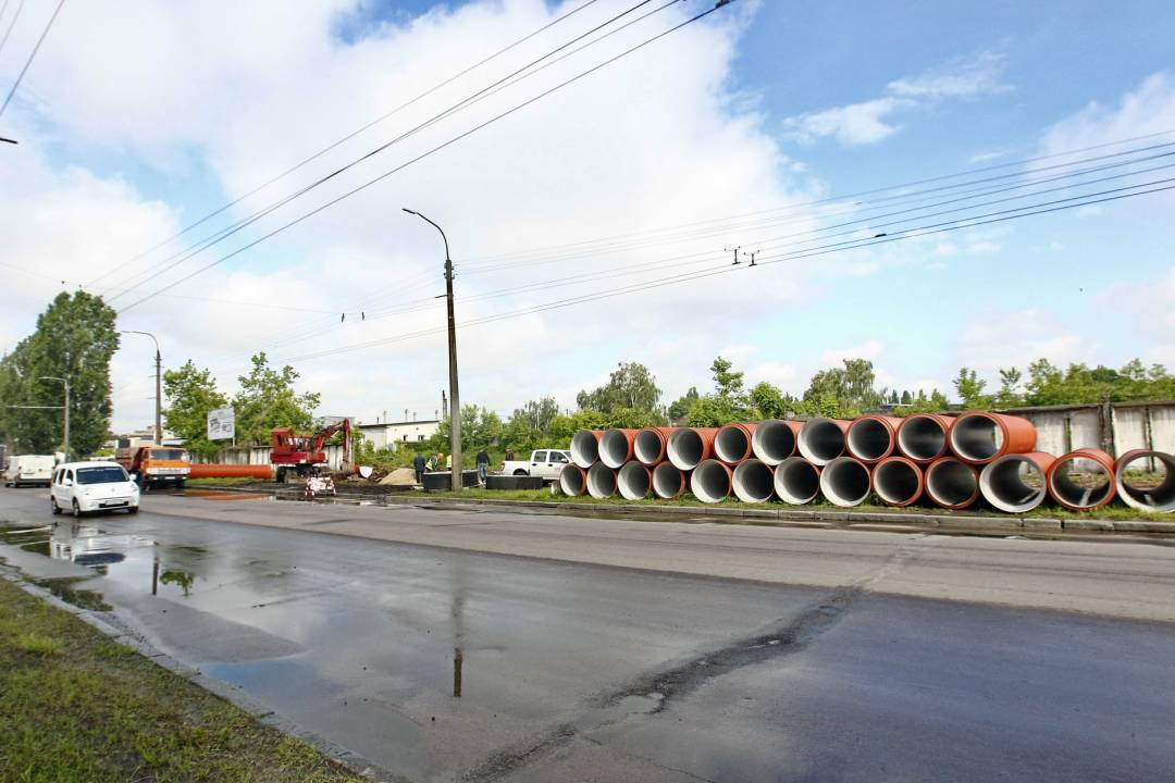 Дорогу на Шерстянку вже будують (Фото)