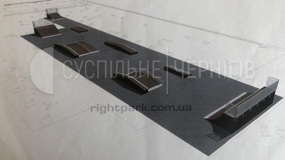 Як виглядатиме скейт-парк у Чернігові (Фото)