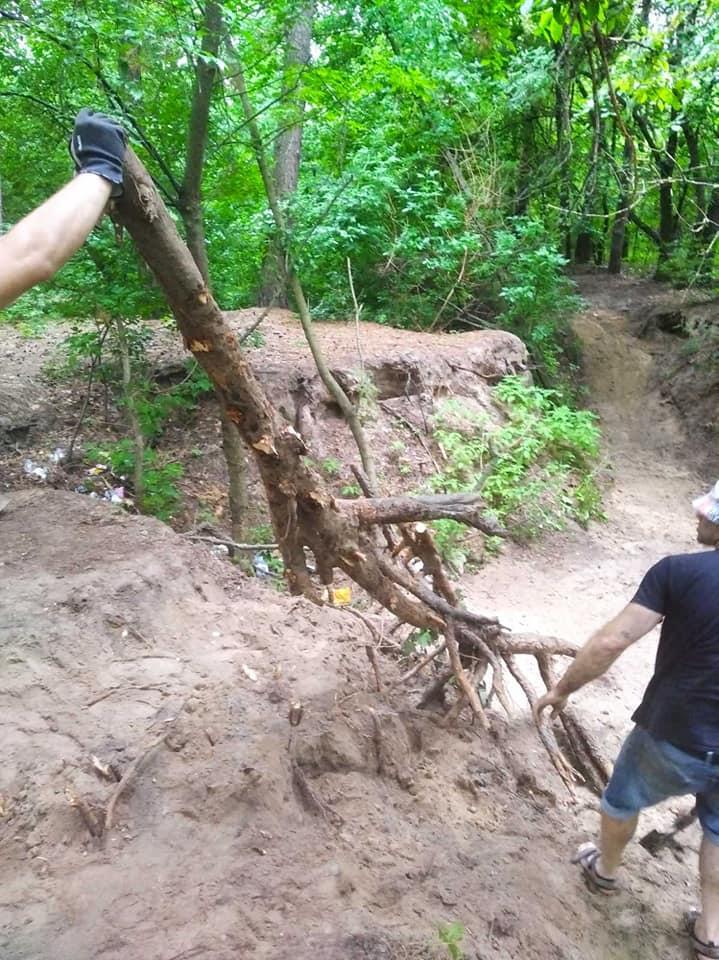 У Ніжині батьки власними силами облаштовують для дітей велодоріжку в лісі (Фото)