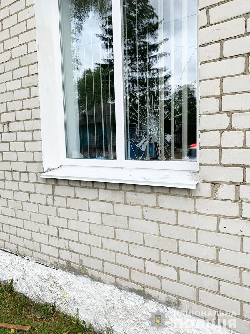 У Сновському районі поліція затримала озброєного сокирою хулігана (Фото)